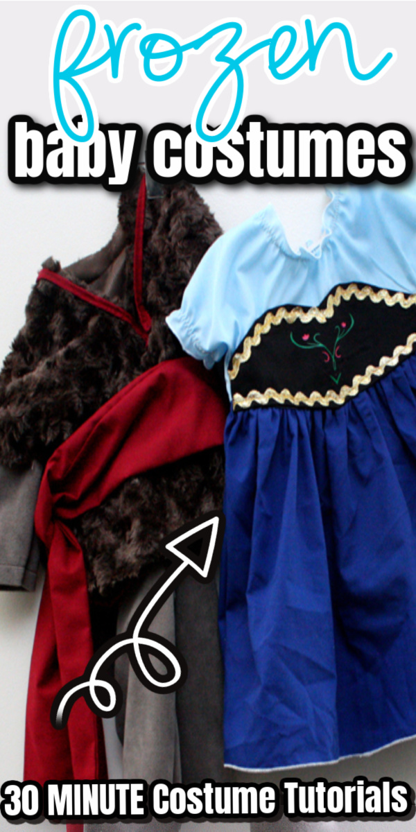 baby sized Kristoff and Anna costumes