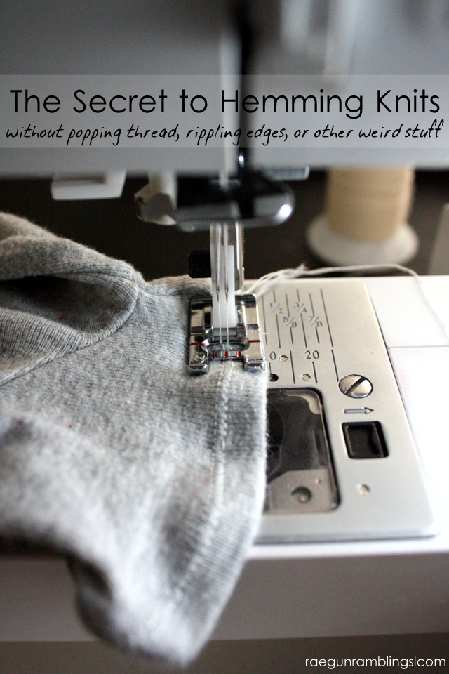 The secret to hemming knits. It's the type of thread you use! Rae Gun Ramblings