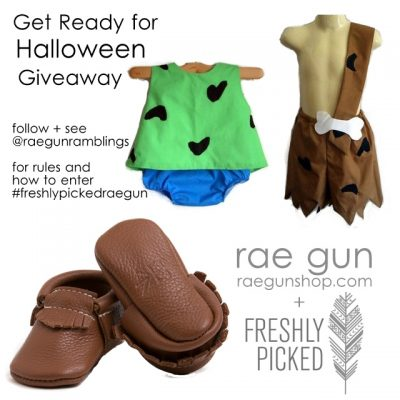 Freshly Picked Moccs and Rae Gun Costume Giveaway
