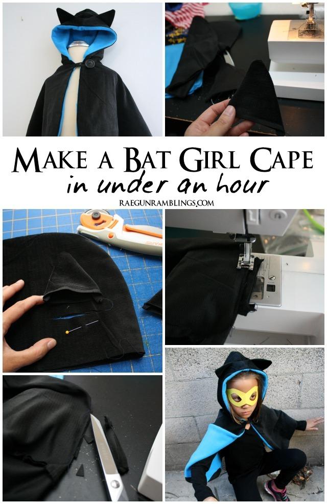 How to add bat or cat ears to a hood - Rae Gun Ramblings #costume #catwoman #batgirl