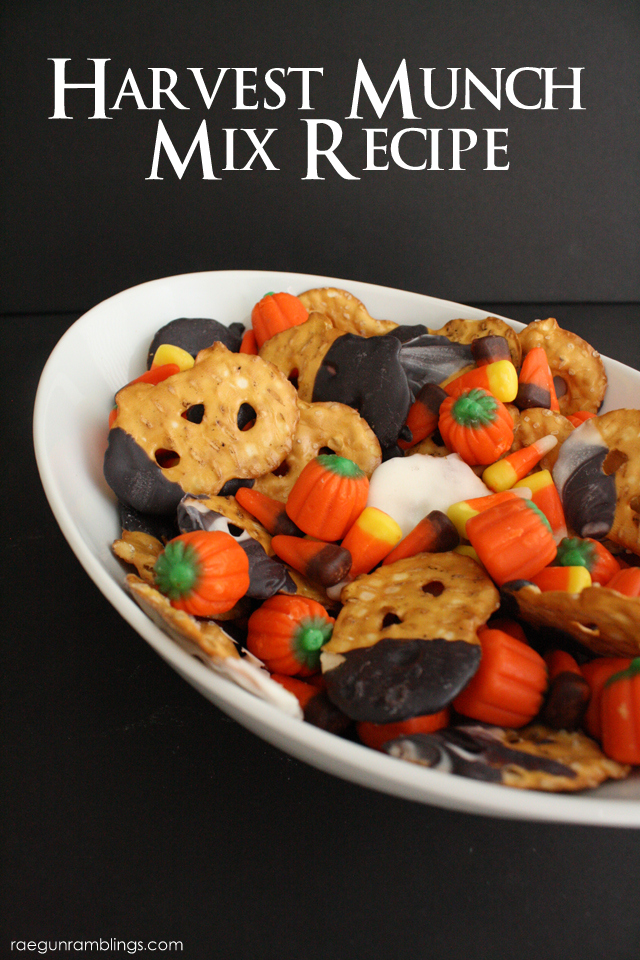 Great snack mix perfect for Halloween or Thanksgiving - Rae Gun Ramblings