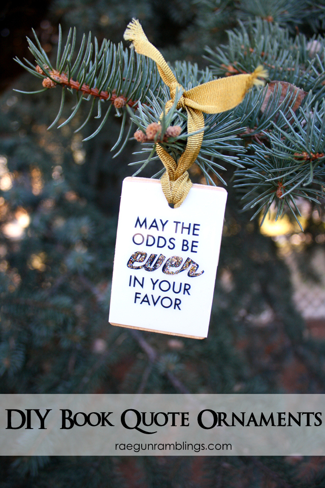 Harry Potter and Hunger Games Christmas Ornaments plus 35 Tutorials     Quick and easy book nerd ornaments that also work for pictures  quotes and  other things