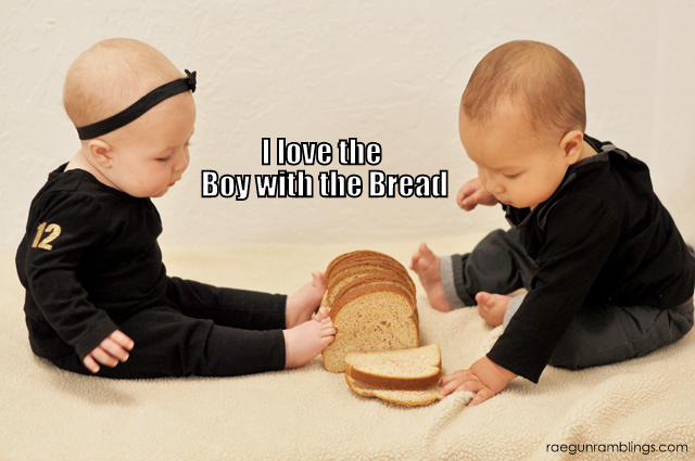 Bow with the Bread Hunger Games Baby Pics - Rae GUn Ramblings