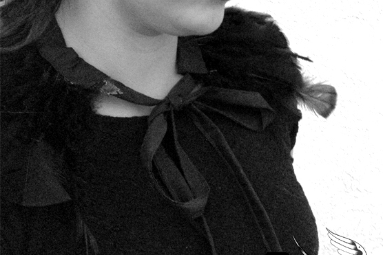Hunger Games Katniss inspired feather collar tutorial