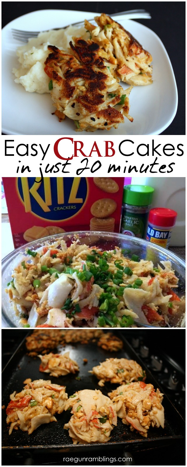 Yummy 20 minute crab cakes perfect for an easy dinner or as part of a party spread - Rae Gun Ramblings