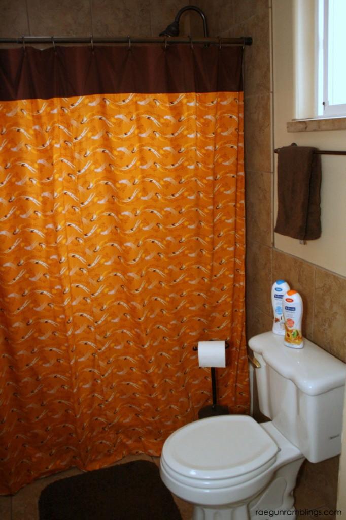 Sew a custom shower curtain in under an hour. Easy tutorial