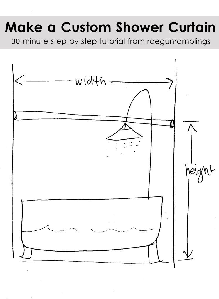 easy 30 min shower curtain tutorial and how to measure for your own bathroom