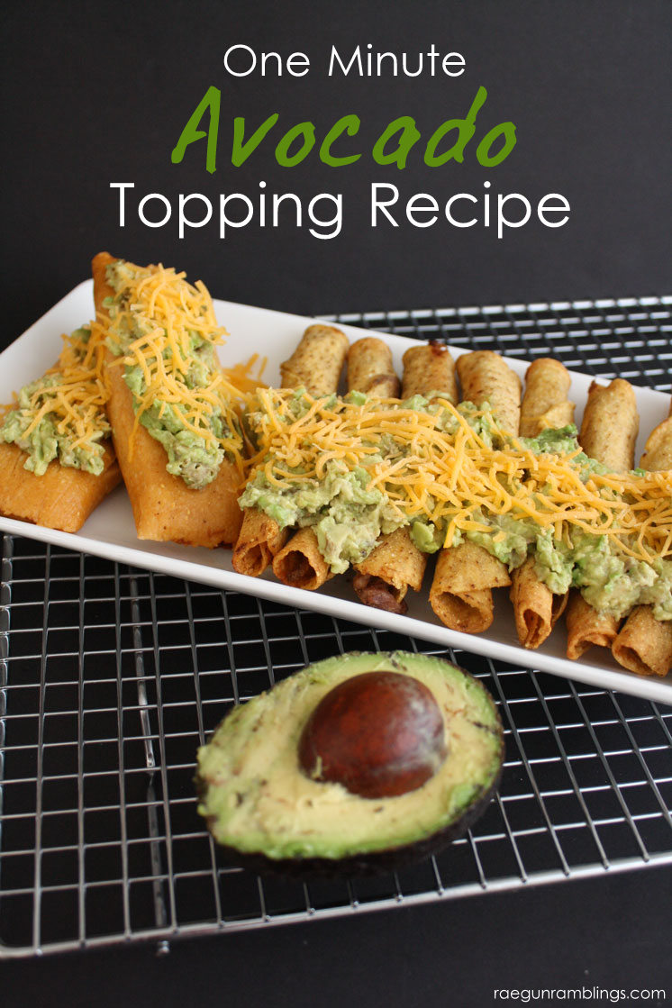 Yummy fast avocado topping perfect for mexican food