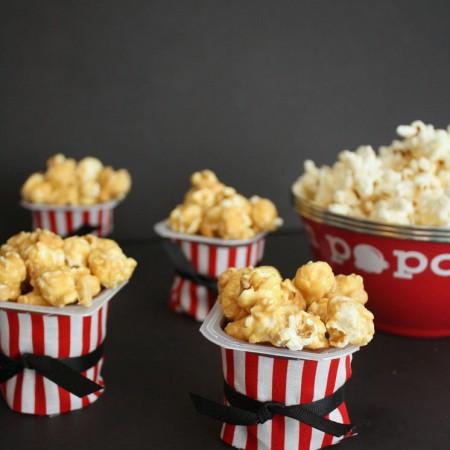 Love this idea. Cute and easy popcorn dessert idea great for movie night.