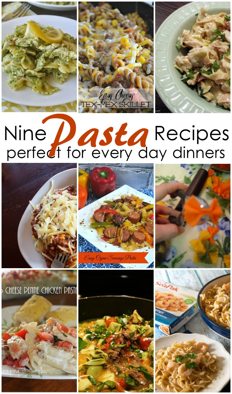 Yummy and easy pasta dinner ideas and recipes
