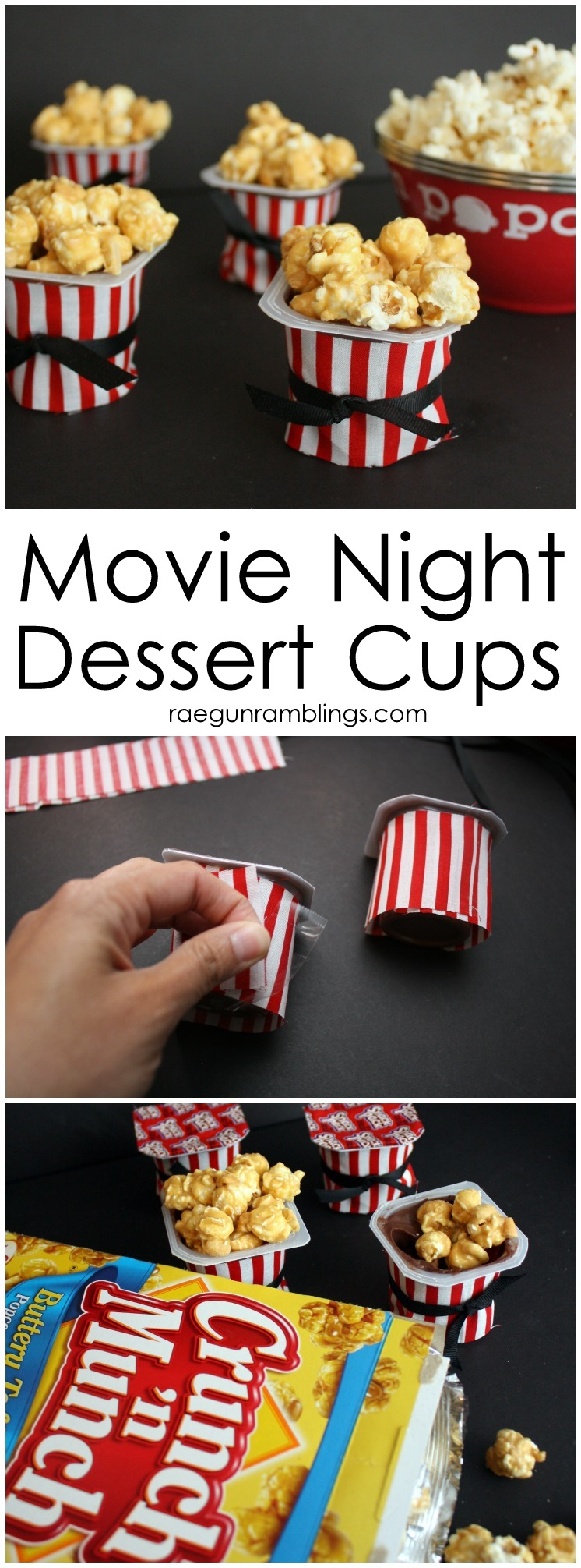 How to make Movie Night treat cups in less than 5 minutes.