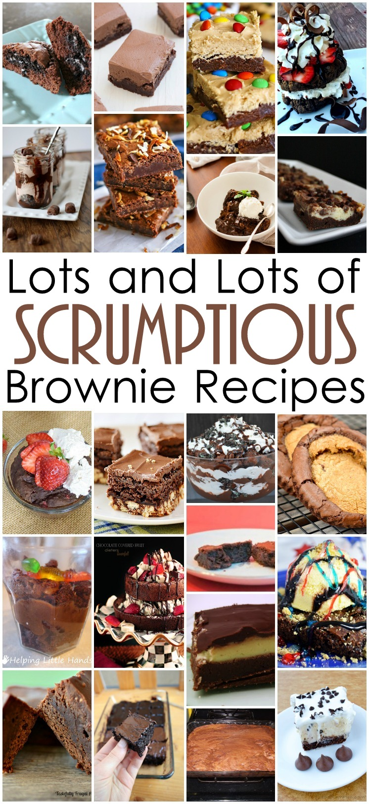 Tons of easy and delicious brownie dessert recipes. All these brownies look so good.