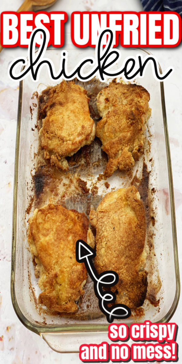 How to make oven fried chicken. Great recipe crisps up and so juicy
