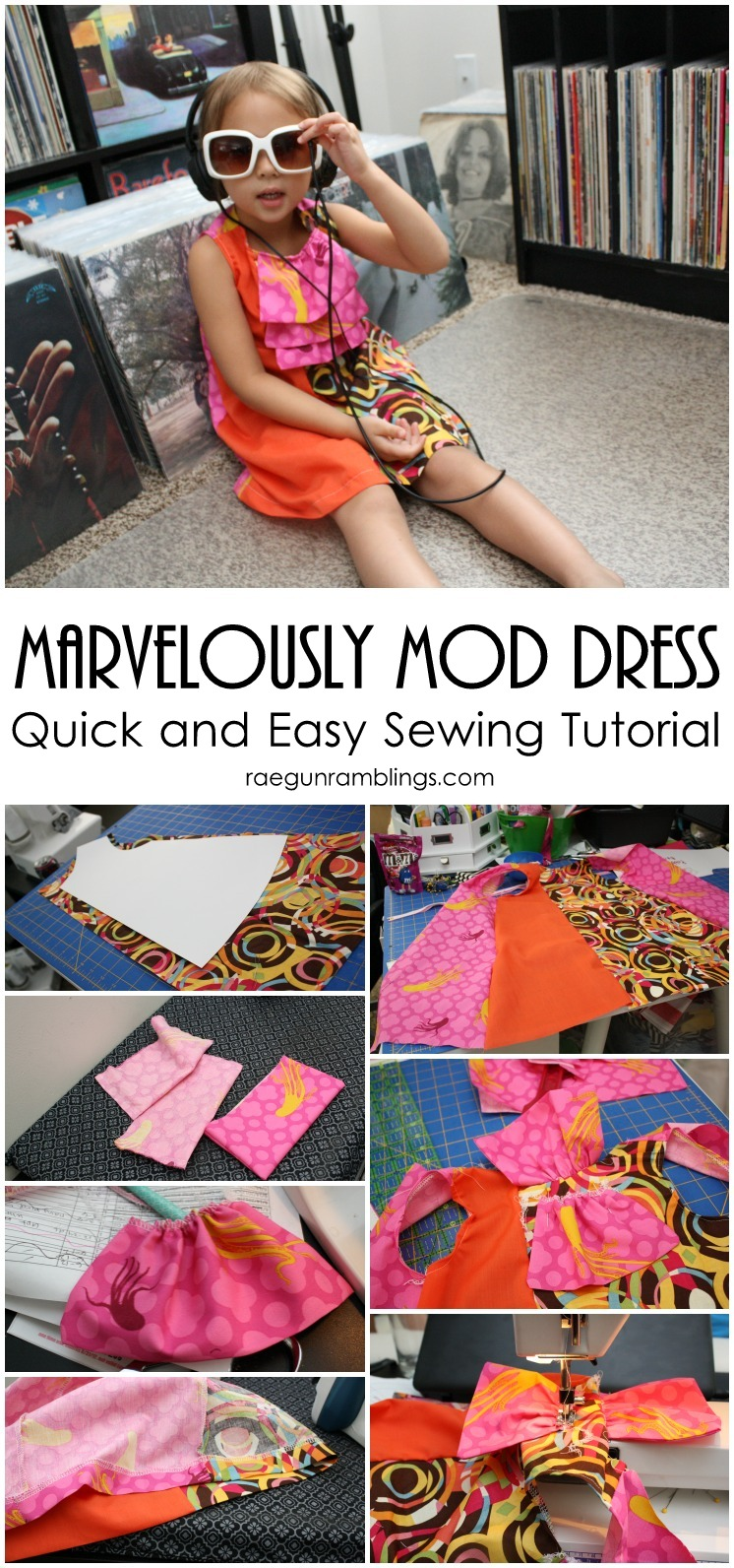 Easy to follow tutorial for DIY mod dress. Great sewing project