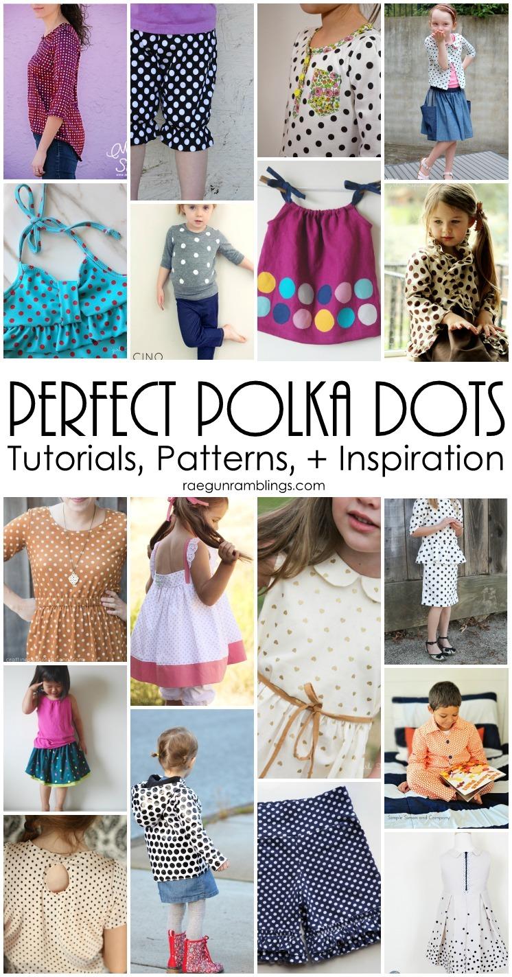 Fabulous polka dot sewing tutorials, patterns, and inspiration