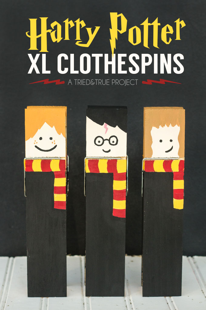 Cutest ever. These Harry potter XL clothespins would be great gifts. DIY tutorial