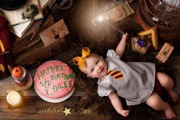 Harry Potter themed baby photo shoot