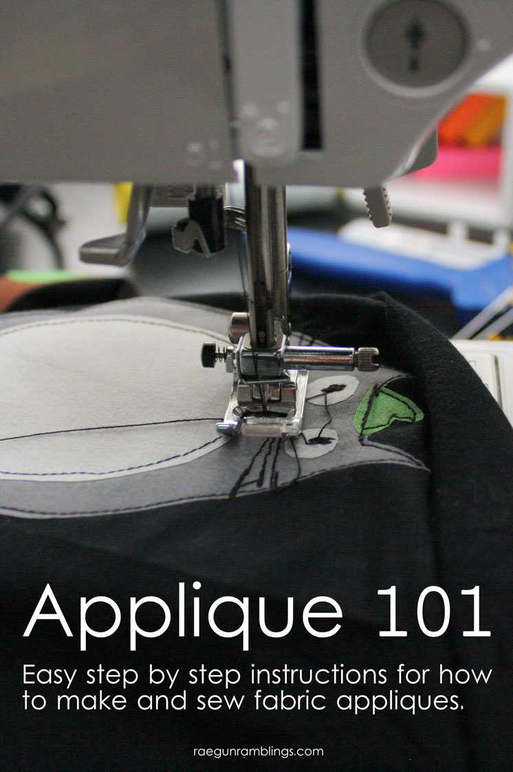 This is the best tutorial for how to make and sew on fabric appliques.