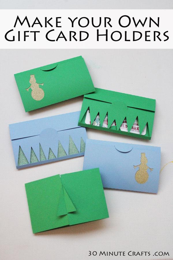 Paper cut gift card holders fast DIY envelopes