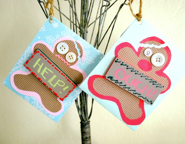 too funny cute gingerbread man diy gift card holders