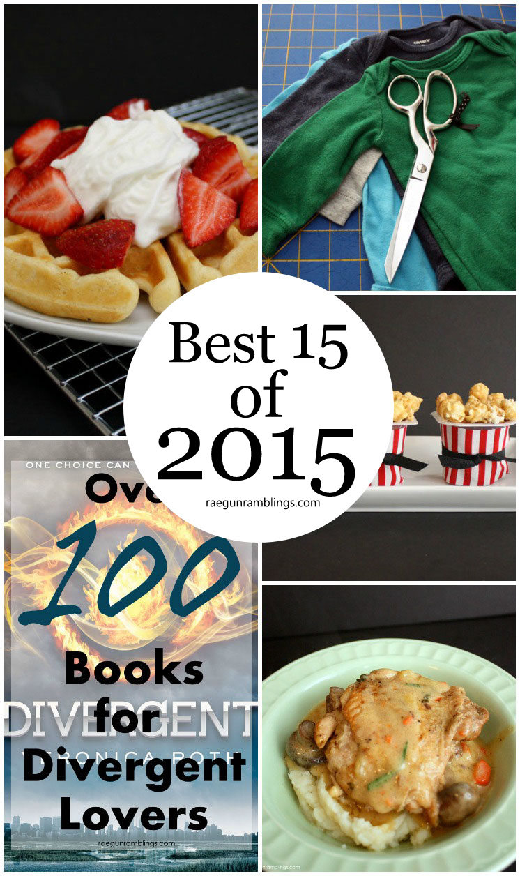 most popular post of 2015. These all look good. recipes, diy tutorials, book reviews and more