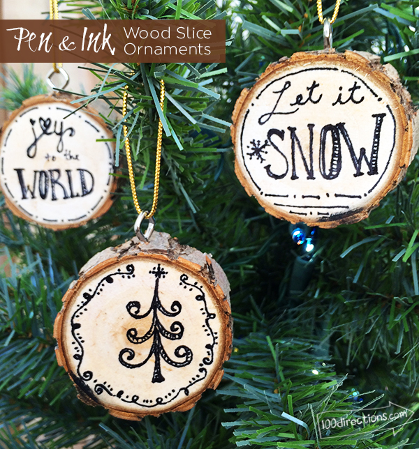 Wood and Ink DIY Christmas Ornaments