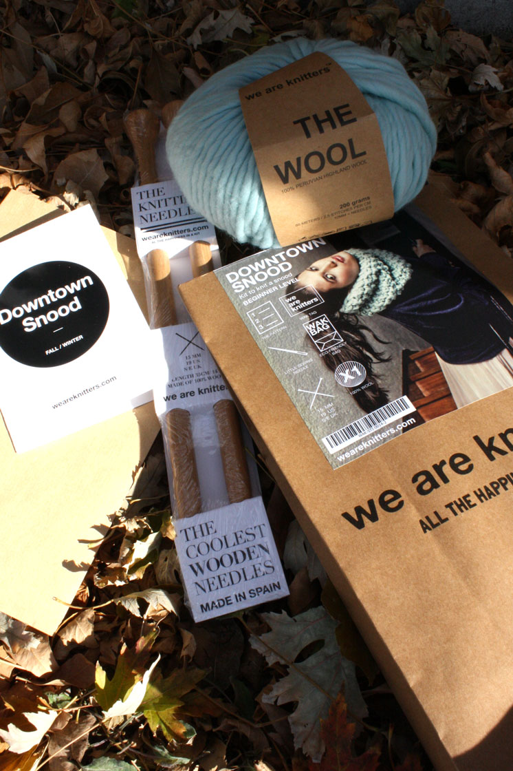 These knitting kits are so cool and would make awesome gifts for knitters or people wanting to learn how to knit.
