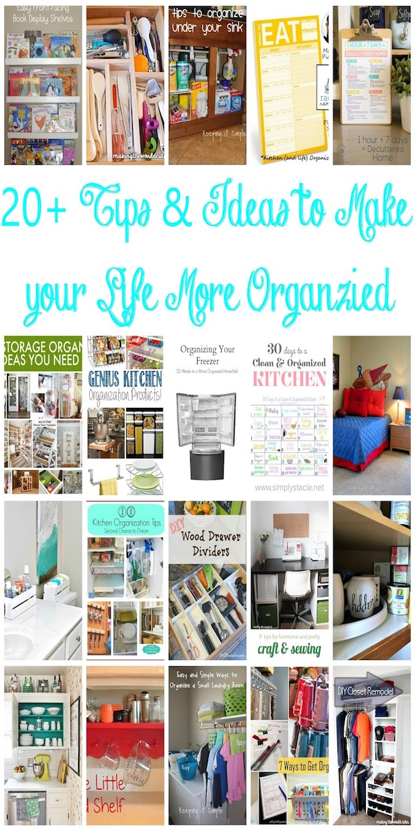 Tons of DIY organizing hacks and ideas