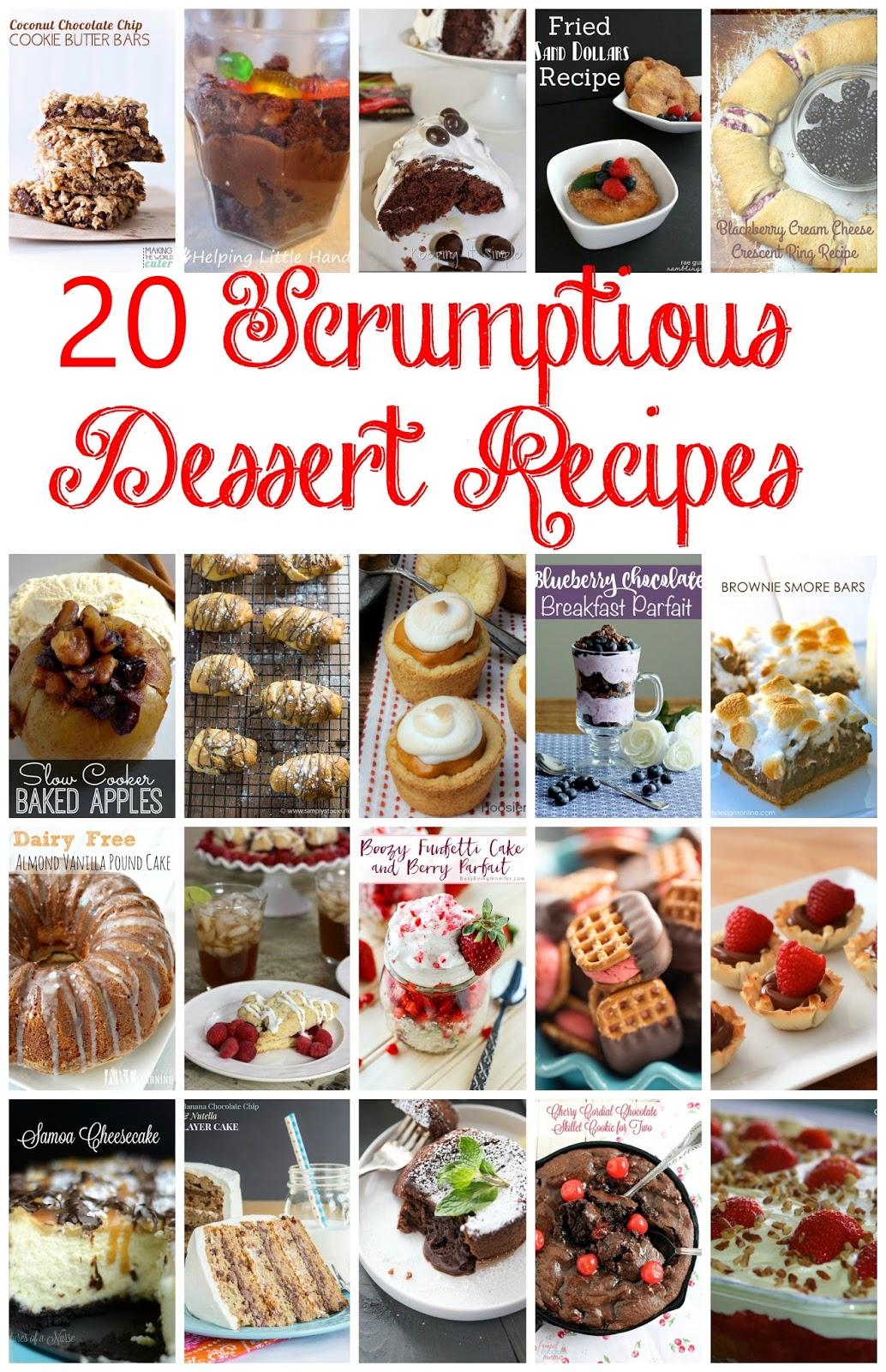 20 scrumptious dessert recipes