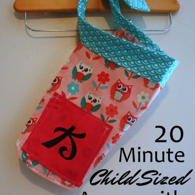 20 Minute Child Sized Apron Tutorial + FREE Pattern
