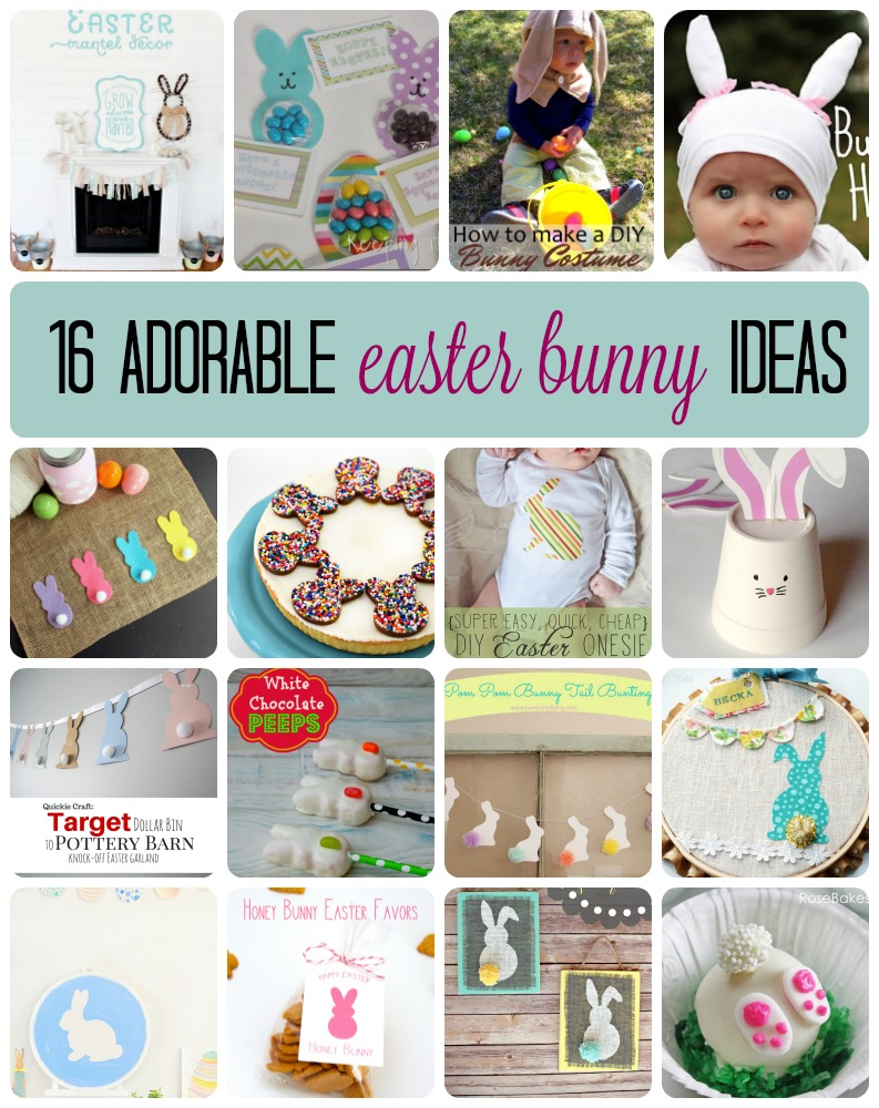 16-Adorable-Easter-Bunny-Ideas great crafts, diy, party and easter projects
