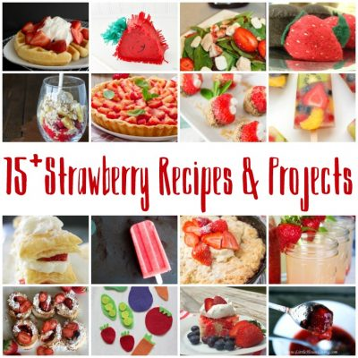 15+ Strawberry Recipes and Crafts and Block Party