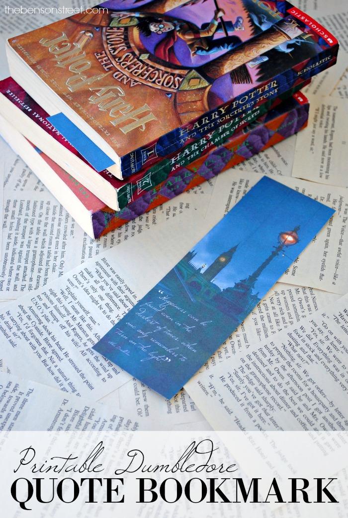 Free Printable Dumbledore Quote Bookmark via thebensonstreet.com
