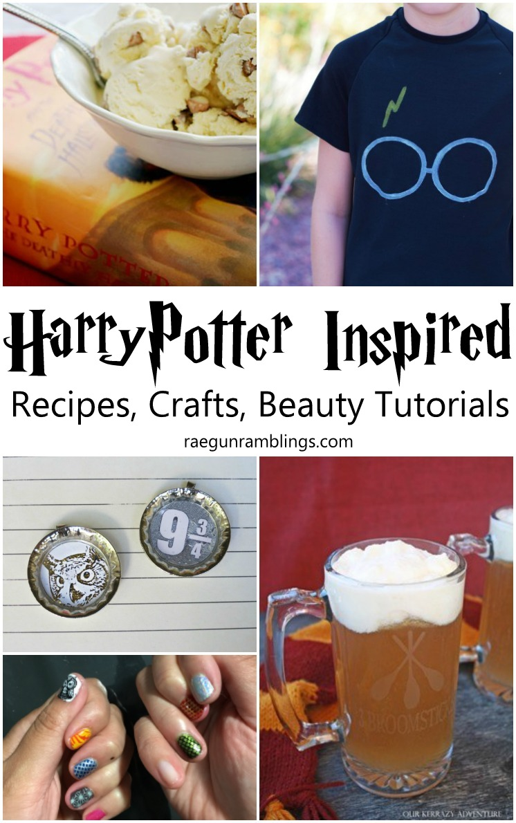 So many awesome Harry Potter Inspired Recipes Crafts and even Beauty Tutorials