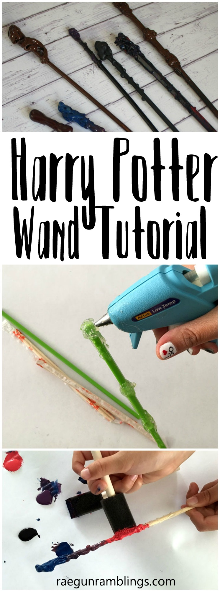 Hands down the best Harry Potter wand tutorial. Way better than the others I've tried. Fun kid activity or party idea.