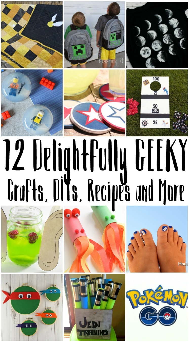 Great Geeky crafts, DIYs, recipes and more. From Harry Potter to Pokemon Go and Doctor Who there's something for all nerds.