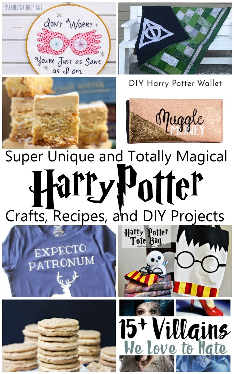 Awesome unique Harry Potter crafts, recipes and DIY projects