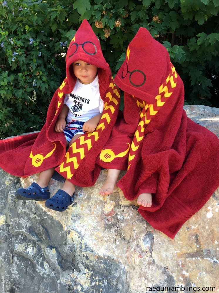 How to make Harry Potter towels. Too cute!