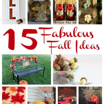 Fabulous Fall Crafts and Recipes and Block Party