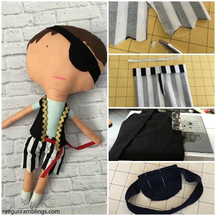 How to make a boy pirate doll with free pirate costume sewing pattern