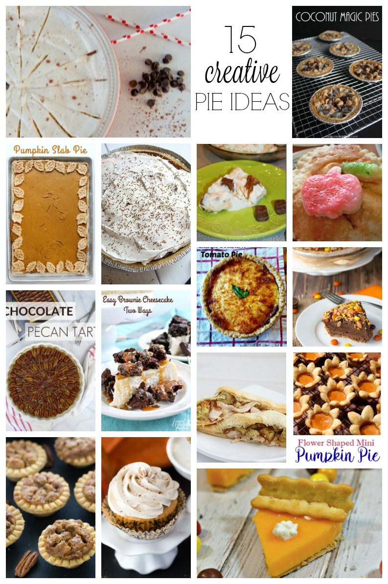 15 creative pie recipes. Perfect for Thanksgiving dessert or Pi Day