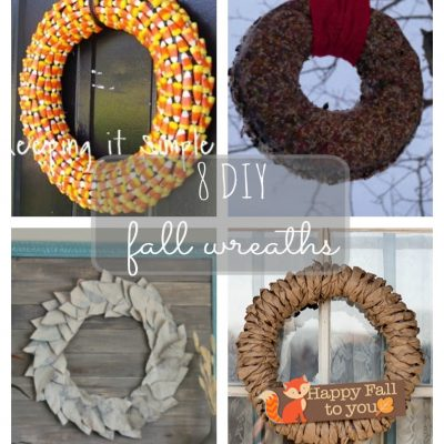 Awesome Fall Wreaths and Block Party