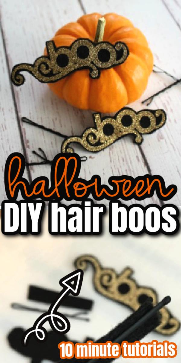 Cute DIY Halloween hair bows. Make fun hair boos using your Cricut. Headbands, hair clips and more.