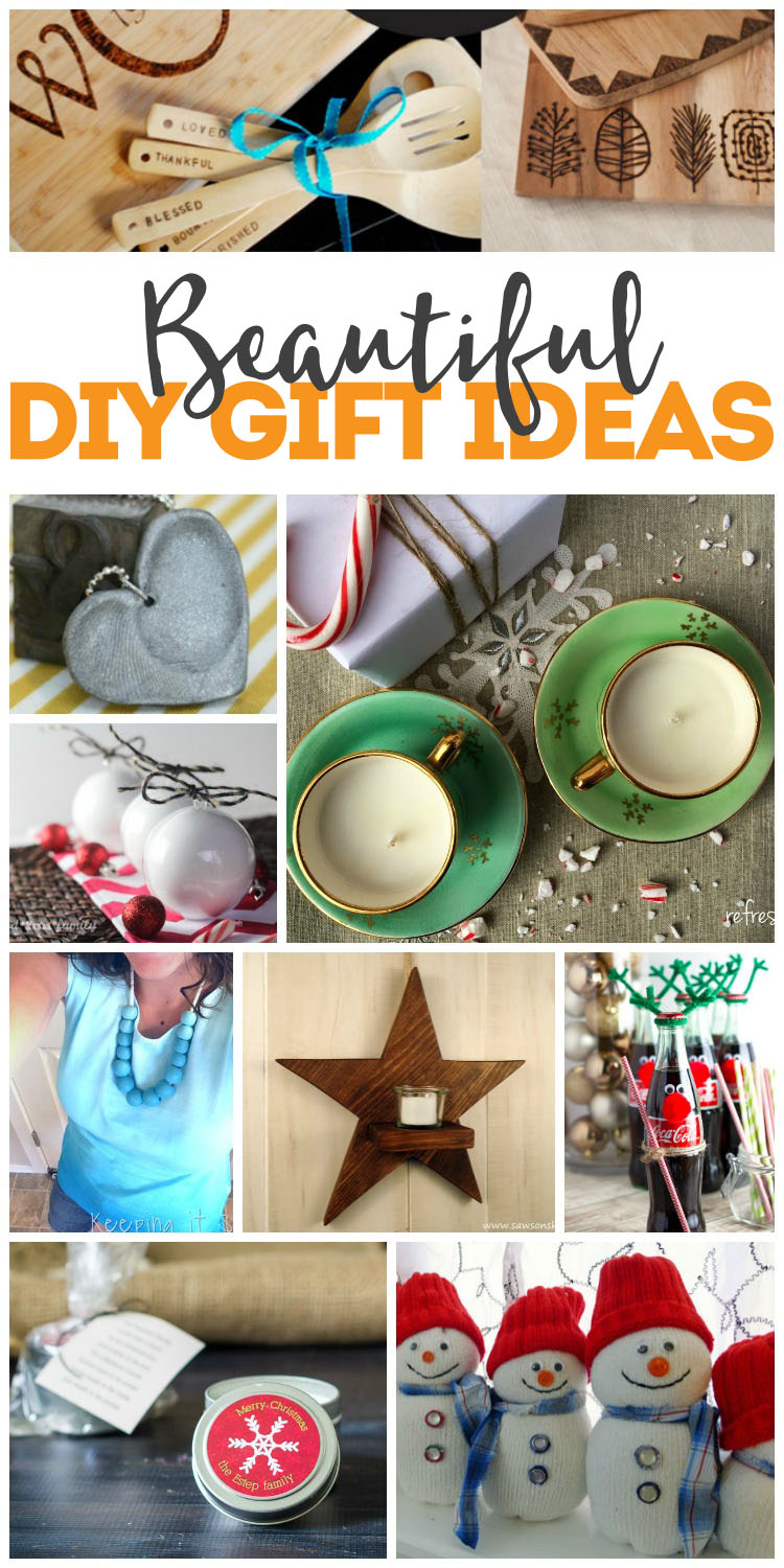 beatutiful DIY gift ideas lots of present tutorials perfect for CHristmas and beyond