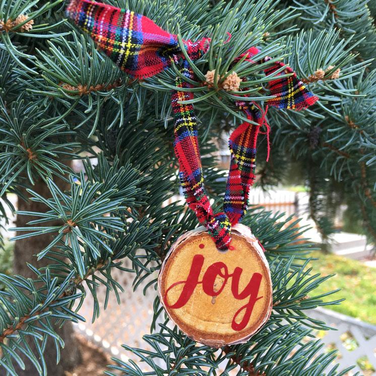 Easy DIY Joy Ornament Tutorial