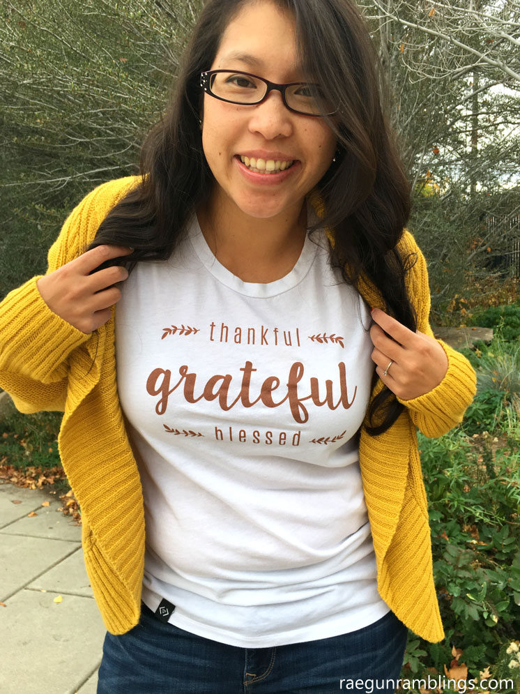Great reminder not to forget the journey. Thankful shirt