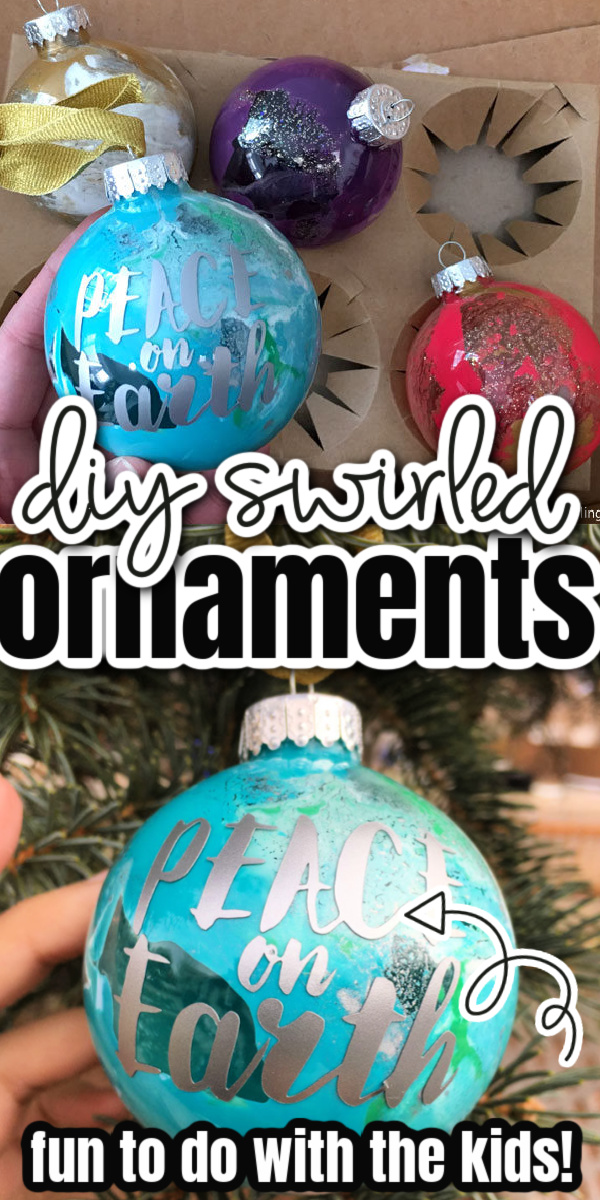 glass swirled ornaments