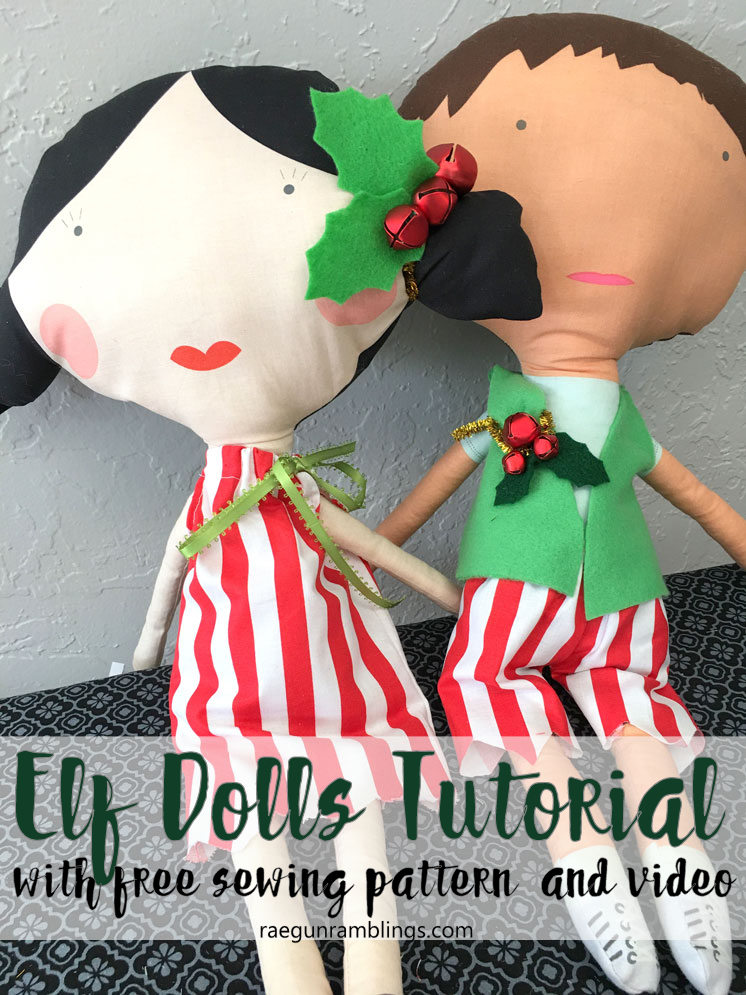 Adorable Elf Dolls tutorial with free patterns