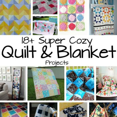 DIY Quilts and Blanket Tutorials and Block Party