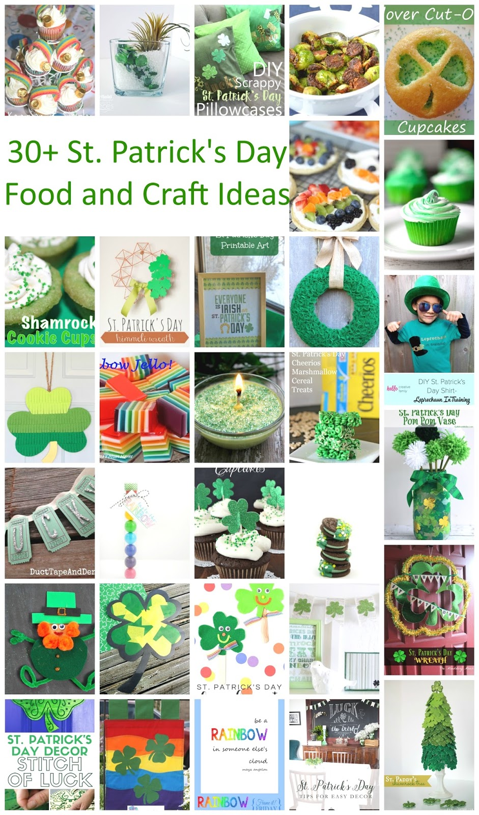 30+ St. Patrick's Day Foods and Crafts